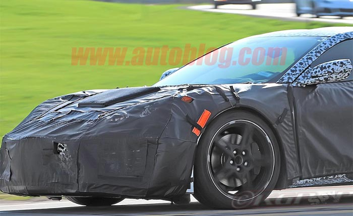 The C8 Mid-Engine Corvette Spotted Again with a Porsche 911 Carrera S on Public Streets