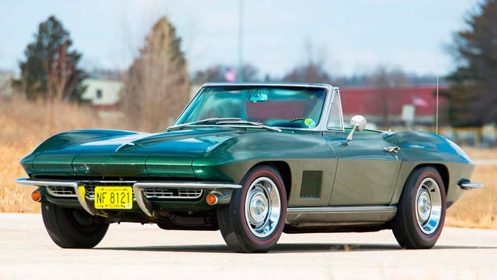 1967 Corvette Awarded to Super Bowl MVP QB Bart Starr to be Offered at Mecum Indy