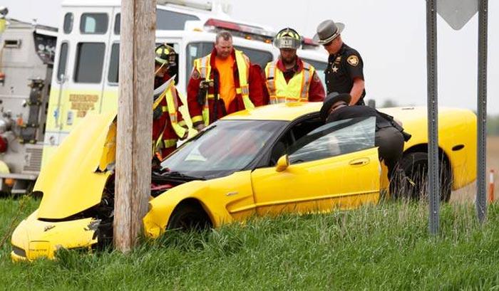 [ACCIDENT] C5 Corvette Z06 vs Utility Pole in Ohio