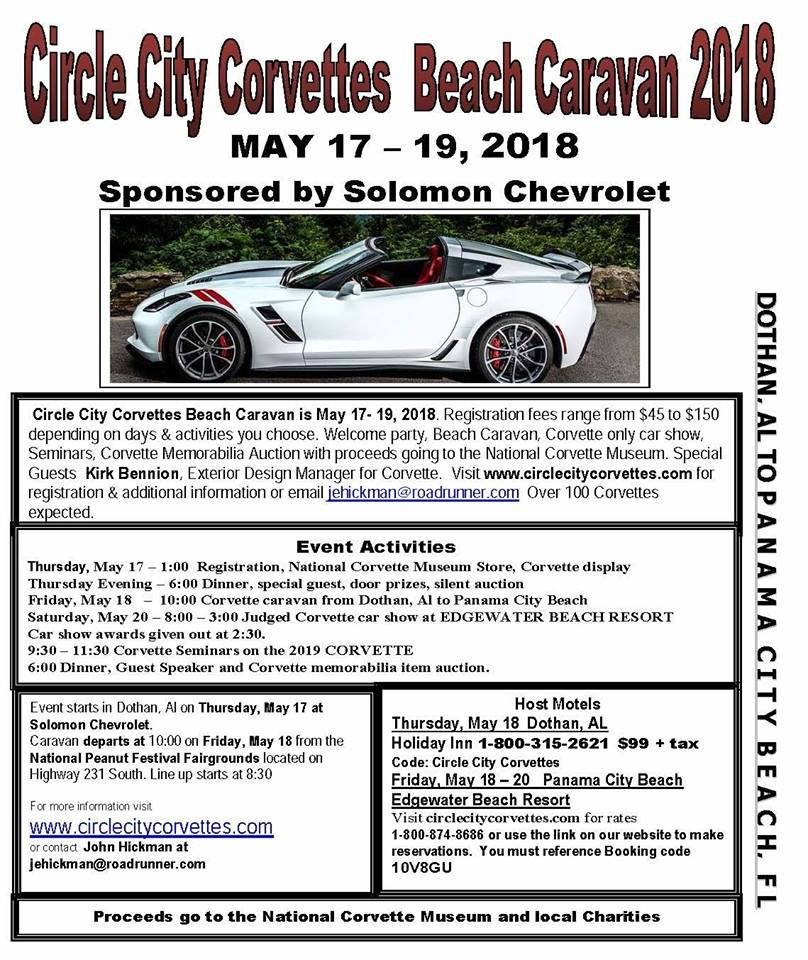Circle City Corvettes Invades Panama City Beach For Th Annual - Panama city beach car show 2018
