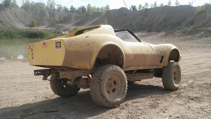 Found on Facebook: Lifted C3 Corvette 4x4