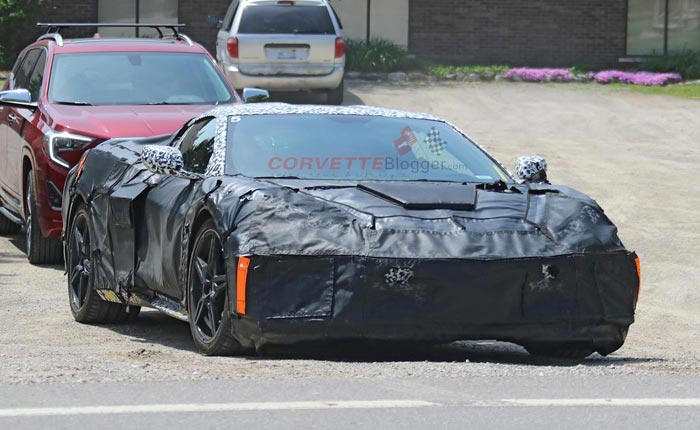 [SPIED] Is This The New C8 Corvette's Front Axle Lift System in Action?