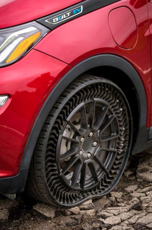 GM and Michelin are Testing These New Airless and Puncture-Proof Tires