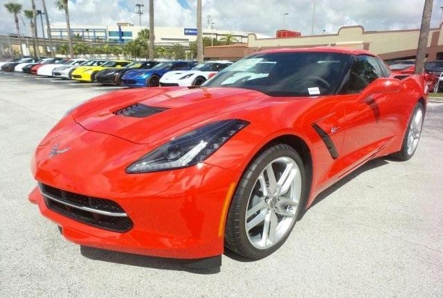 Torch Red 2019 Stingray Coupe 1LT