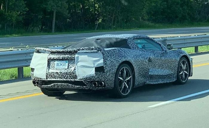 [SPIED] A Cavalcade of C8 Corvette Prototypes Spotted Driving Down the Highway