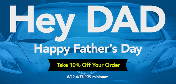 Corvette Central Wishes Happy Father's Day with a 10% Off Sale