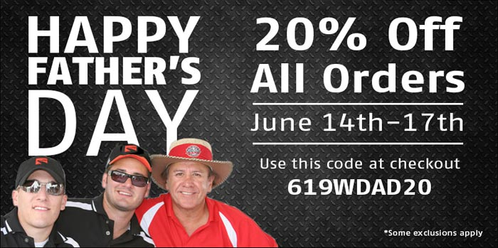 Save 20% All Weekend Long in Celebrations of Father's Day at Mid America Motorworks