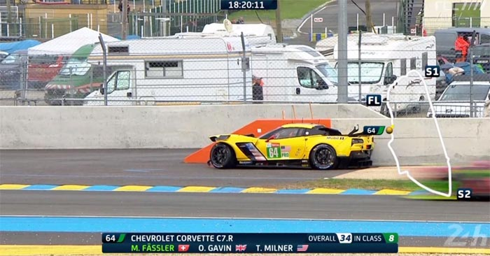 Corvette Racing at Le Mans: The No. 64 Corvette C7.R Out Following Huge Crash in Hour 6