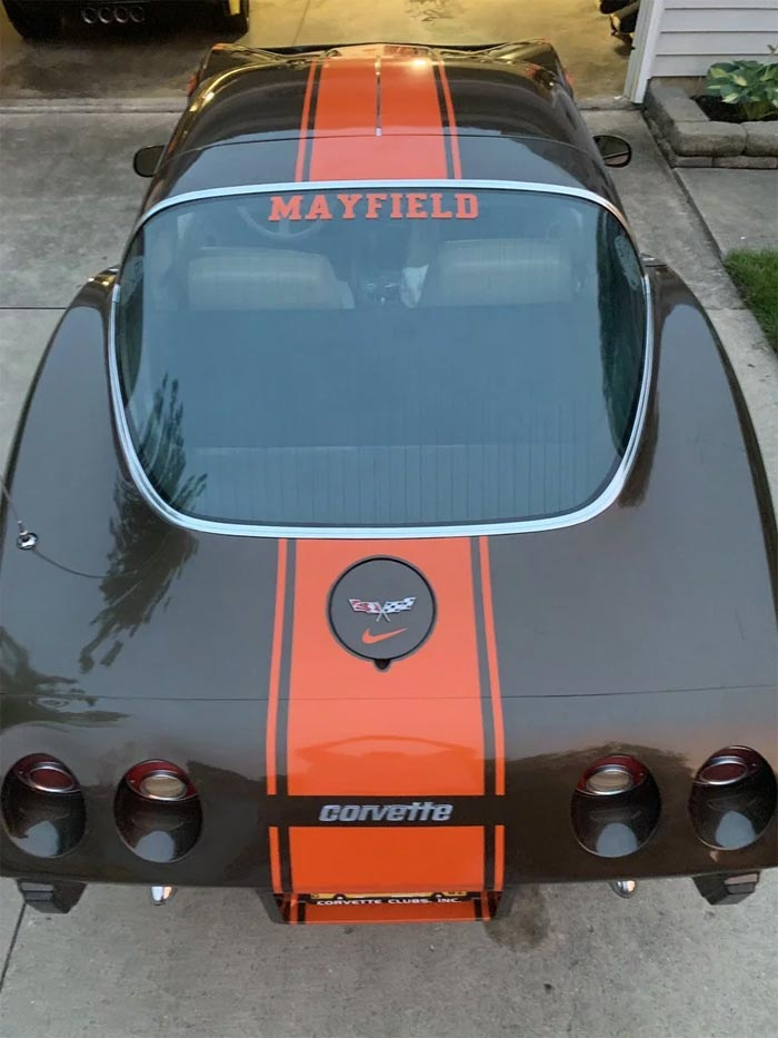 Feelin' Dangerous: Cleveland Browns Fan Gives His 1979 Corvette a Makeover