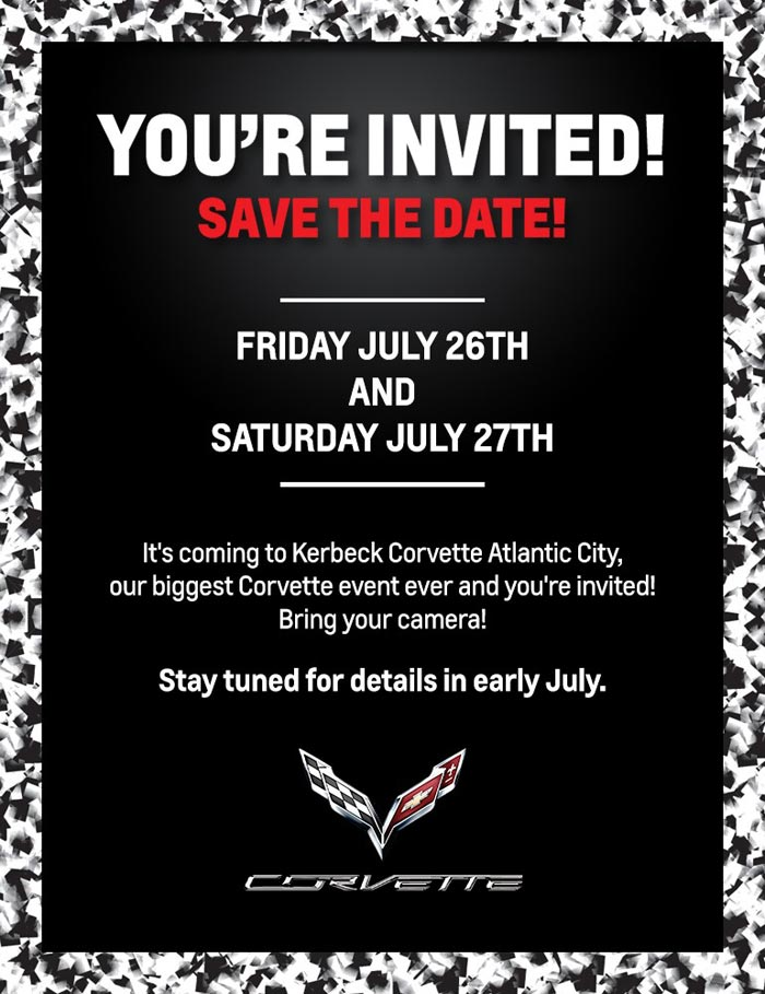 Save the Dates! Something Special is Happening at Kerbeck Corvette on July 26-27