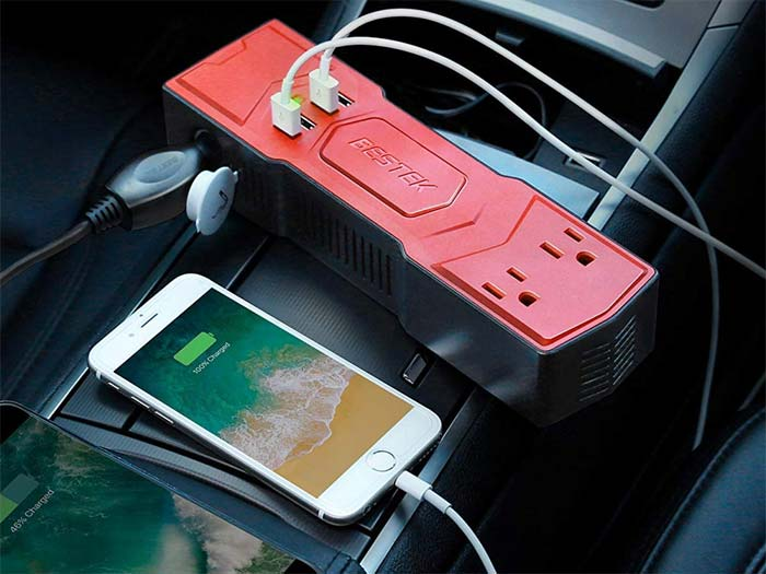 [AMAZON] Save Over 30% on the BESTEK 200W Power Inverter with 4-Port 4.8A USB Car Charger for $16.09