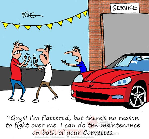Saturday Morning Corvette Comic: Fighting in the Service Lane