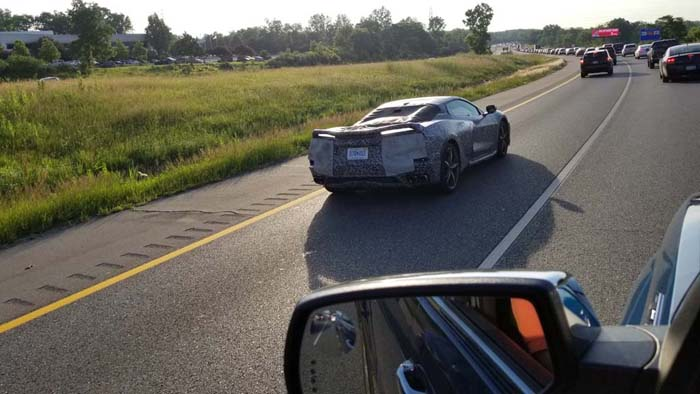 [SPIED] C8 Corvette In Traffic Near Detroit