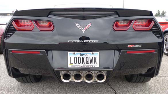 The Corvette Vanity Plates of Bloomington Gold 2019