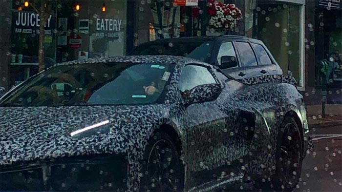 C8 Corvette in the Rain