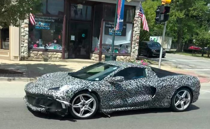 [SPIED] Video and Pics of the C8 Corvette this Week From Detroit to the Nurburgring