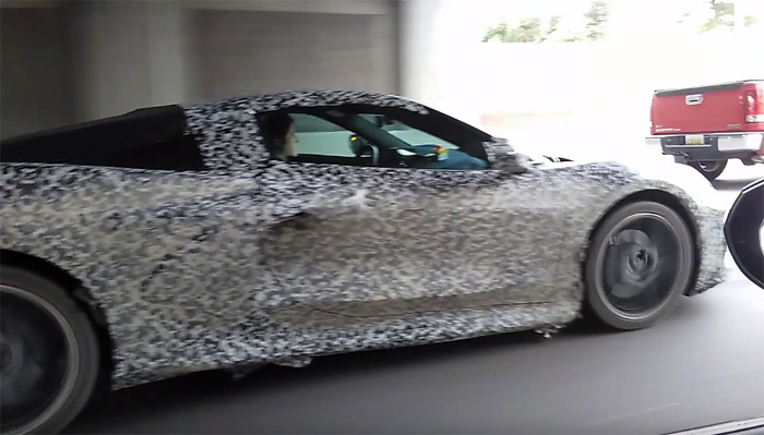 [Spied] Corvette Product Manager Harlan Charles Spotted Behind the Wheel of a C8 Mid-Engine Prototype