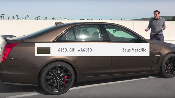Paint Chip Confirms Zeus Bronze is the Same Color as Cadillac's Bronze Sand Metallic