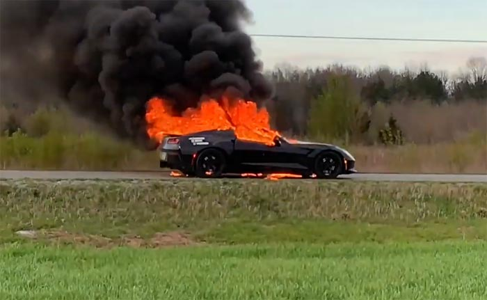 [ACCIDENT] Man Watches as His 2014 Corvette Stingray Goes Up In Flames