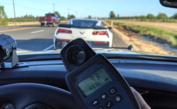 [PIC] C7 Corvette Driver Nabbed By CHP for 93 MPH in a 55 MPH Construction Zone