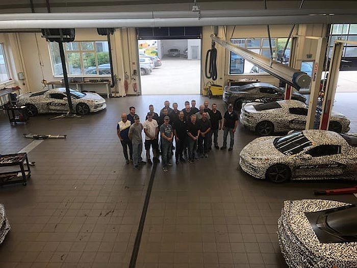 As the C8 Corvettes Leave the Nurburgring, Mark Reuss Posts Group Photo of Engineers