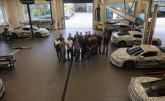 As the C8 Corvettes Leave the Nurburgring, Mark Reuss Posts a Group Photo of Chevy's Engineers