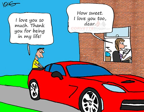 Saturday Morning Corvette Comic: Letting the One You Love Know You Care