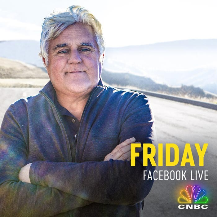 Jay Leno to Drive the C8 Mid-Engine Corvette Live on Facebook this Friday