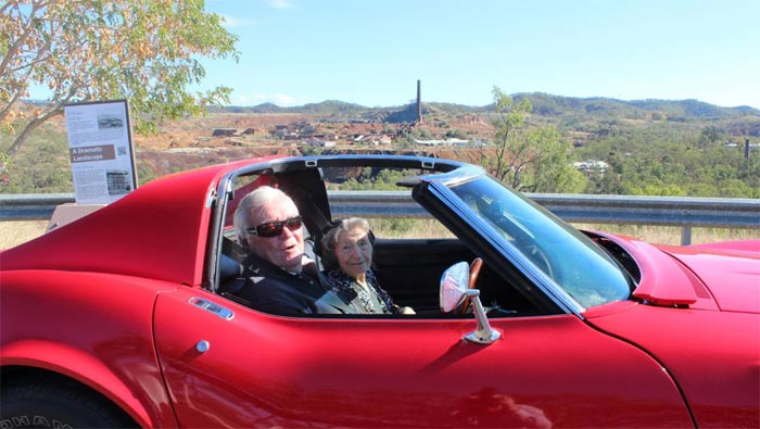 Australian Woman Celebrates 100th Birthday with a Ride in a Corvette