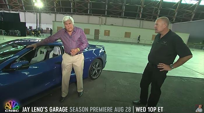 [VIDEO] Jay Leno Checks Out the 2020 Corvette Stingray Live on Facebook