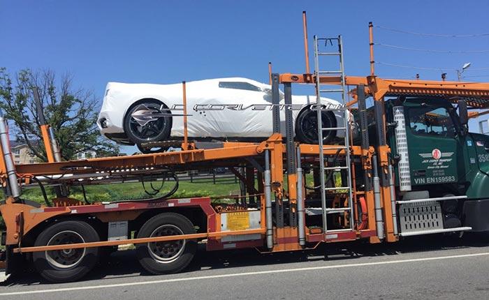 [PICS] C8 Corvettes Leaving the Assembly Plant on Transporters