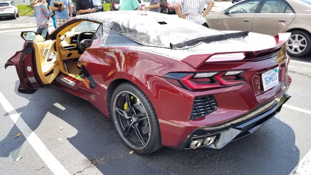 Spied Half Wrapped Mid Engine C8 Corvette Hardtop