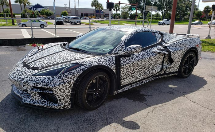[SPIED] Camouflaged C8 Corvette with a Trailer Hitch in Venice, Florida