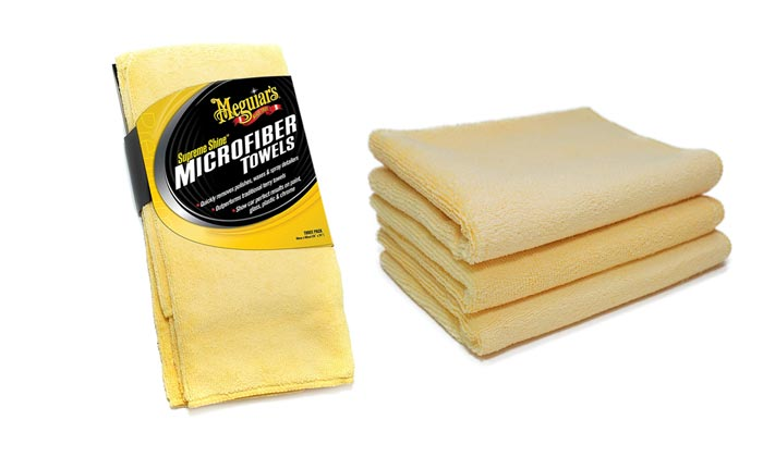 [AMAZON] Save 44% on 3-Pack of Meguiar's X2020 Supreme Shine Microfiber Towels Now Under $5