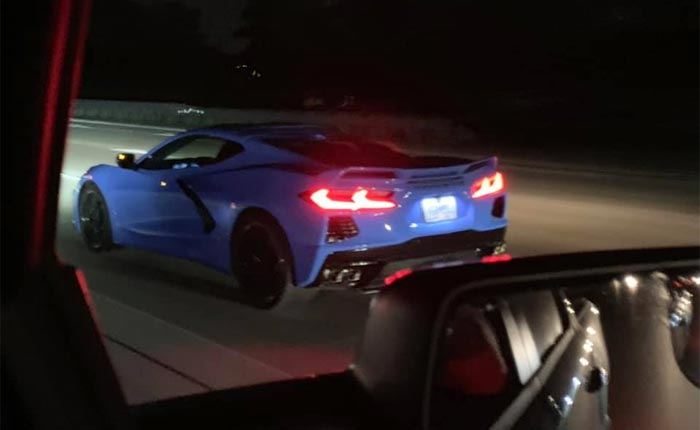 [VIDEO] C8 Corvette Launches on the Street When the Stop Light Turns Green