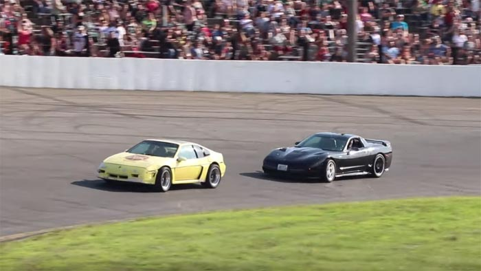 [VIDEO] C5 Corvette Driver Loses Race to a Fiero and then Crashes into the Wall