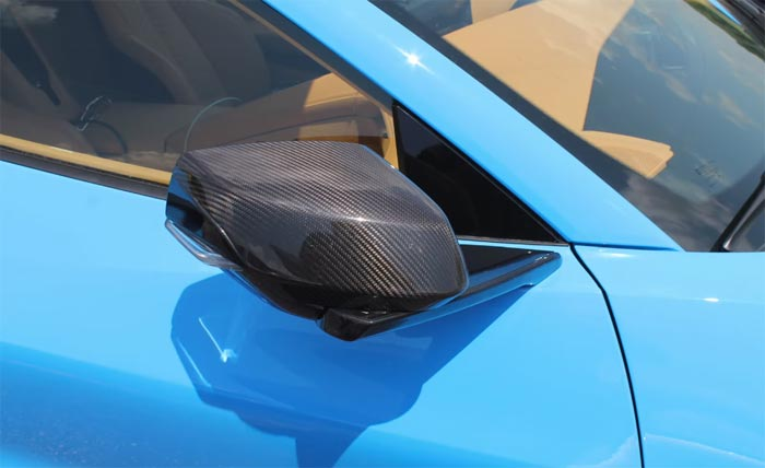 [VIDEO] Rapid Blue 2020 Corvette Stingray with Visible Carbon Fiber Mirrors