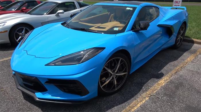 Video Rapid Blue 2020 Corvette Stingray With Visible Carbon Fiber