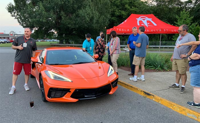 [PIC] Corvette Assembly Plant Manager Kai Spande Crashes A Tesla Owners Club Meeting