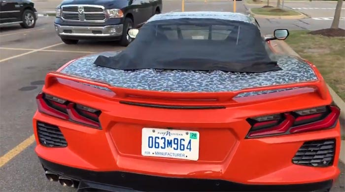 [SPIED] Semi-Camouflaged 2020 Corvette Stingray Spyder Seen in Public