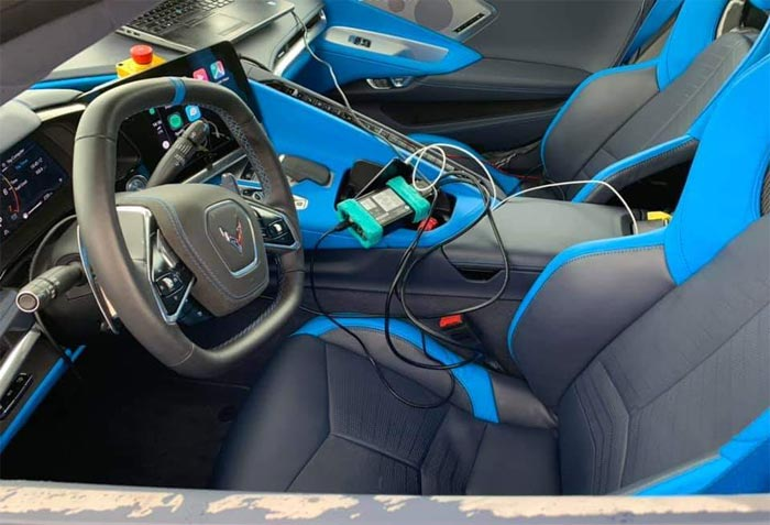Pics The C8 Corvette S Tension And Twilight Blue Interior Spotted