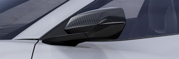 Mirror Caps in Visible Carbon Fiber
