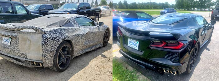 [PICS] This Black 2020 Corvette Was Once Driven in Camouflage by Harlan Charles