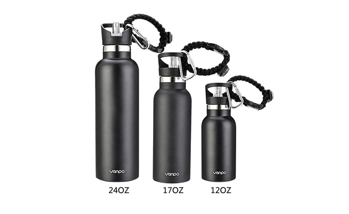 [AMAZON] Save 53% On VANPO's Stainless Steel Insulated Water Bottles
