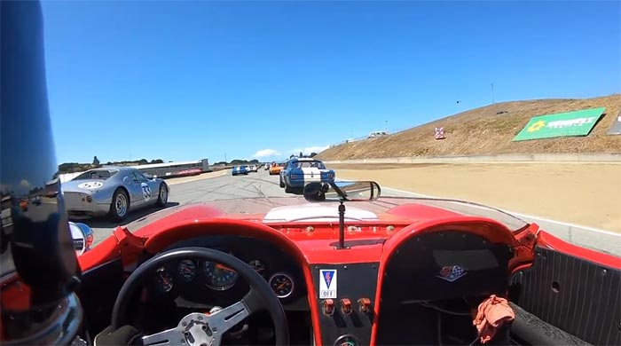 [VIDEO] Watch this Vintage Corvette Racer Pass 12 Cars on Opening Lap of Rolex Pre-Reunion at Monterey