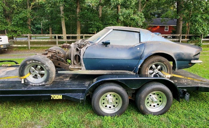 Corvettes on eBay: Abandoned 1969 Corvette Offered for $2,900