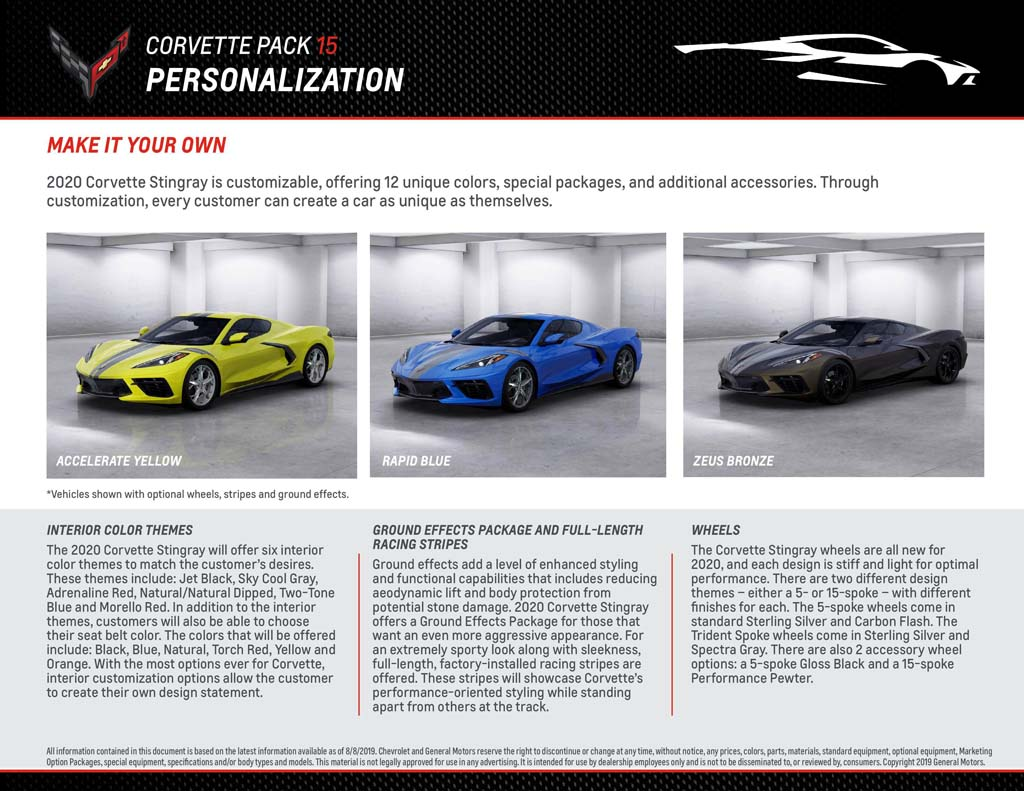 Download the C8 Corvette Pack that Chevrolet Sent to Dealers for Training