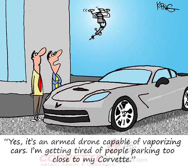 Saturday Morning Corvette Comic: New Uses for Drone Technology