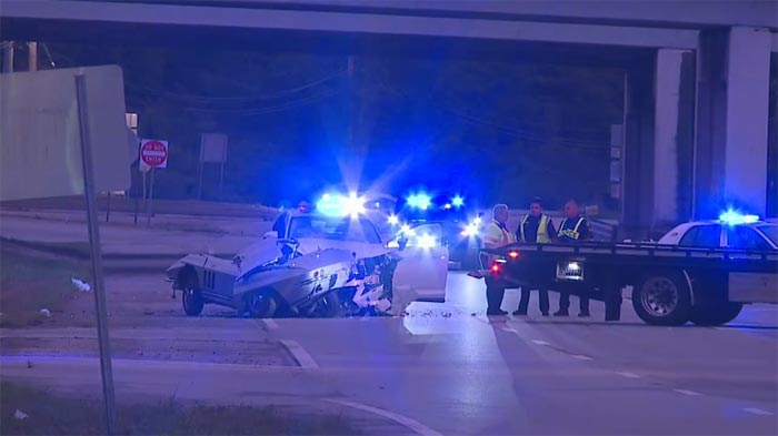[ACCIDENT] Chain Reaction Crash Sends a C2 Corvette Driver and a Police Officer to the Hospital