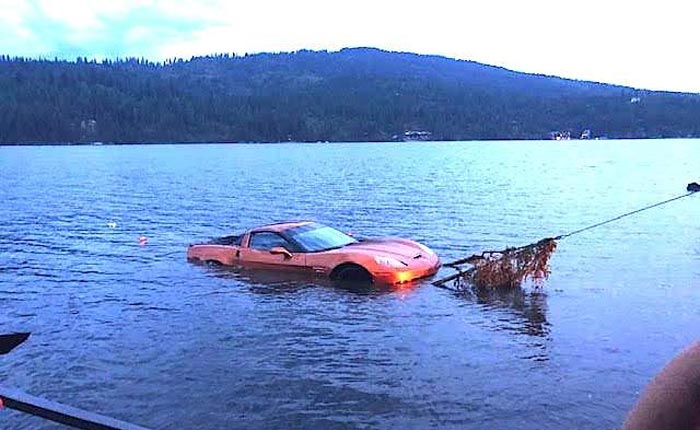 [STOLEN] Submerged C6 Corvette Z06 Recovered from Lake Bed